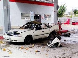 В Узбекистане в Намангане на газовой заправке взорвалась Нексия