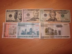 Белорусский рубль укрепился к фунту и австралийскому доллару