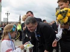 В Париже Порошенко встретился с украинской диаспорой