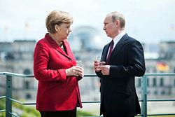 Путин и Меркель рассмотрели вопрос Украины в Довиле