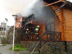 Отель сына Януковича сгорел в Прикарпатье