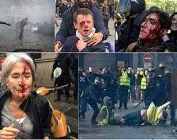 В Париже возводят баррикады, власть отвечает газом и водой