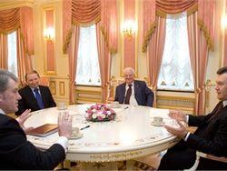 Началась встреча четырех президентов Украины. Оппозицию не позвали