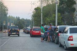Пробка на переправе выросла до самой Керчи, парализуя движение в городе