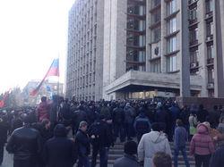 Митинг в Донецке требует референдум о статусе области