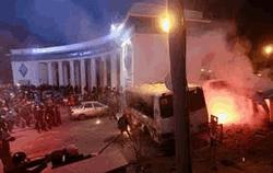 Вечер 19 ноября у Кабмина Украины