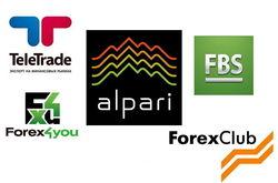 Alpari и Forex Club названы самыми популярными брокерами Форекс октября 2016 г. в СНГ