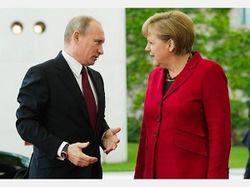 Путин и Меркель договорились к снижению напряженности на Украине