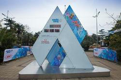 В Сочи остановились часы обратного отсчета до начала Олимпиады