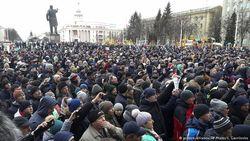 Многотысячный митинг в Кемерово
