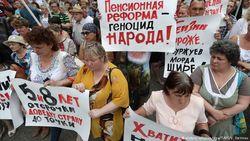 Россияне массово протестуют против реформы