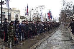 Митинг у здания парламента Крыма возобновился, ждут звезд шоу-бизнеса из России