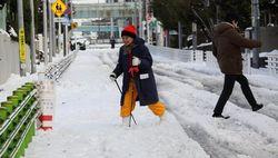 Снегопад в Японии чуть не сорвал выборы губернатора Токио и убил 7 человек