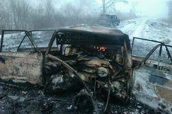 Под Луганском взорвали автомобиль с пограничником