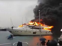 В Турции российскому олигарху сожгли яхту за 5,7 млн. долларов