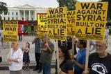 Американцы вышли на демонстрации, протестуя против войны с Сирией