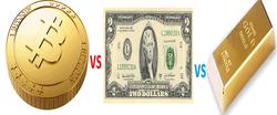Доллар и криптовалюты дорожают, золото дешевеет