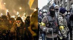 Со сцены Майдана солдат ВВ назвали врагами