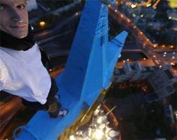 Руфер Мустанг признался, что это он выкрасил звезду в Москве – ради Савченко