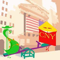 Курс доллара США снизился к юаню на фоне данных по инфляции в Китае