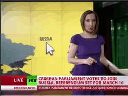 """Телеканал Russia Today """"присоединил"""" Крым к России"""