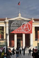 Центральный офис правящей партии СИРИЗА в Афинах захвачен анархистами