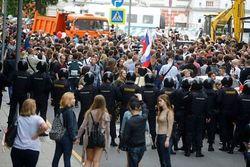 Экономические и политические акции протеста в России пока разделены