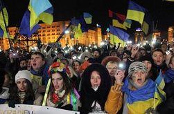 Новый год на Евромайдане в Киеве встретило 500 тысяч человек