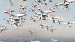 Американцы проверили в действии рой одноразовых мини-дронов