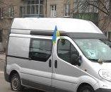 В Житомире неизвестные порезали колеса автобуса с Евромайдана