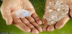 В условиях глобального потепления и засухи от убытков спасет твердый дождь