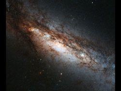 Хаббл смог увидеть скрытую галактику NGC 660