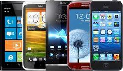 30 популярных смартфонов в социальной сети «ВКонтакте» августа 2014г.