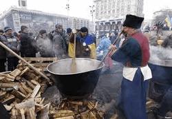 Казацкий кулеш на Евромайдане