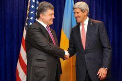 Порошенко провел разговор с Керри по Донбассу