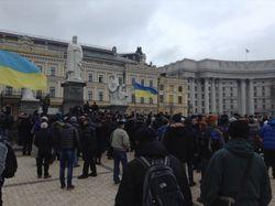 Участники митинга в Киеве организовывают самооборону от Беркута