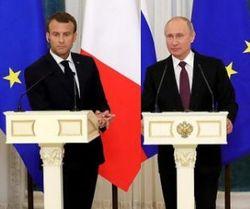 Путин поговорил об Украине с Макроном