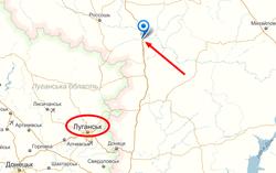 Колонну белых КамАЗов засекли в 45 км от границы Луганской области
