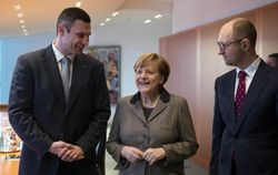 Меркель говорила о кризисе,смене правительства,финпомощи Украине