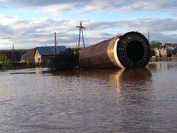 В РФ в одно из сел Алтая наводнение принесло ступень баллистической ракеты
