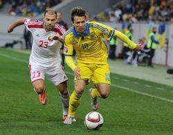 Сборная Украины по футболу уверенно обыграла Беларусь в отборе ЧЕ-2016
