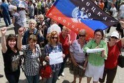 Малочисленный митинг сторонников ДНР избрал «народного мэра» Мариуполя