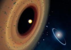 Третья звезда в системе Фомальгаут также имеет диск