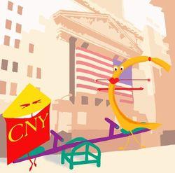 Курс доллара США укрепляется к юаню на форексе из-за гособлигаций Китая