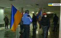 Демонстранты заняли Украинский дом для обогрева и пресс-центра