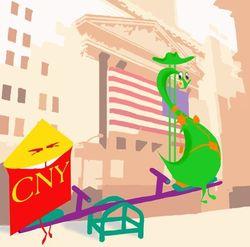 Курс доллара США растет к юаню на фоне роста объёмов кредитования в Китае