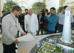 """Кризис Кадырову не помеха – в Грозном строят небоскреб """"Ахмат-Тауэр"""""""