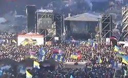 Милиция насчитала 12 тысяч участников вече на Евромайдане в Киеве