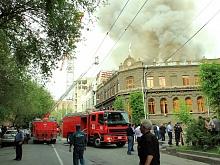 В Ереване сгорела крыша центрального офиса правящей партии