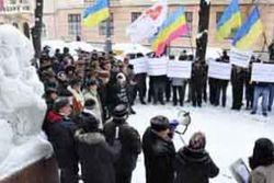 Начался штурм обладминистрации в Черновцах